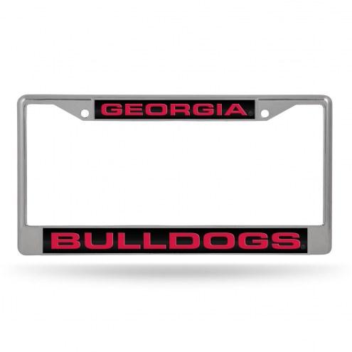 Georgia Bulldogs Laser Rico Chrome License Plate Frame