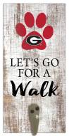 Georgia Bulldogs Leash Holder Sign