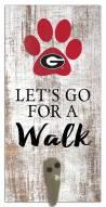 Georgia Bulldogs Leash Holder Sign