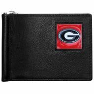 Georgia Bulldogs Leather Bill Clip Wallet