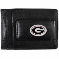 Georgia Bulldogs Leather Cash & Cardholder