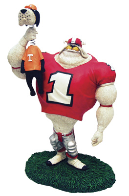 Georgia Bulldogs Lester Choke Rivalry Figurine