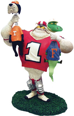 Georgia Bulldogs Lester Double Choke Rivalry Figurine