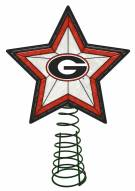 Georgia Bulldogs Light Up Art Glass Tree Topper