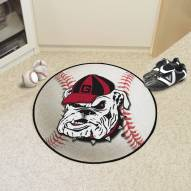 Georgia Bulldogs Logo Baseball Rug