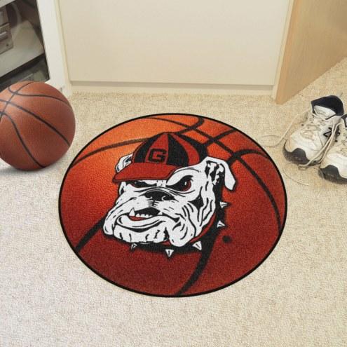 Georgia Bulldogs Logo Basketball Mat