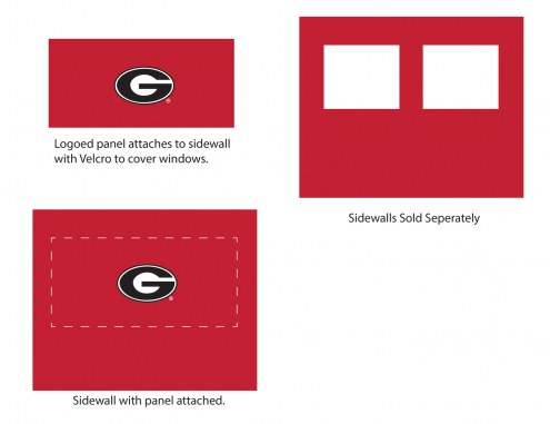 Georgia Bulldogs Logo Canopy Sidewall Panel (Attaches to Window Sidewall)
