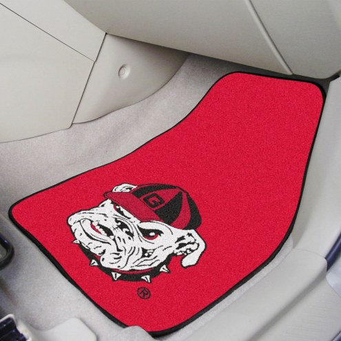Georgia Bulldogs Logo 2-Piece Carpet Car Mats