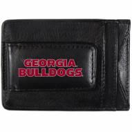 Georgia Bulldogs Logo Leather Cash and Cardholder