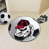 Georgia Bulldogs Logo Soccer Ball Mat