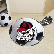 Georgia Bulldogs Logo Soccer Ball Mat