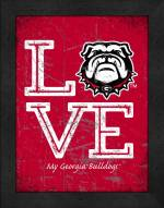 Georgia Bulldogs Love My Team Vertical Color Wall Decor