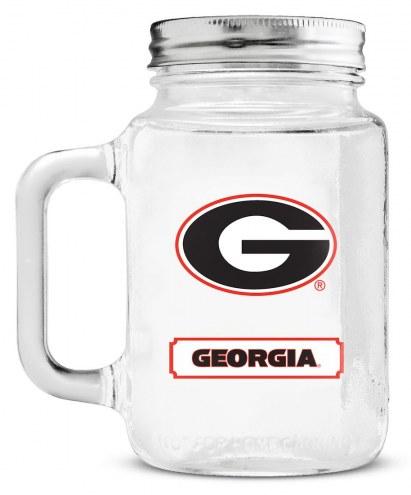 Georgia Bulldogs Mason Glass Jar