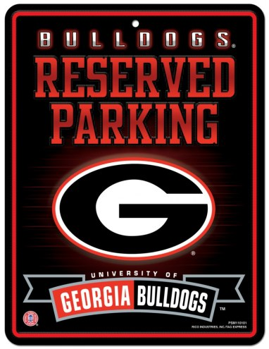 Georgia Bulldogs Metal Parking Sign