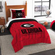 Georgia Bulldogs Modern Take Twin Comforter Set