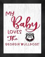 Georgia Bulldogs My Baby Loves Framed Print