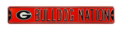 Georgia Bulldogs Nation Street Sign