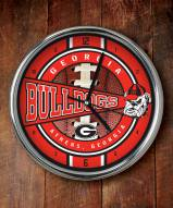 Georgia Bulldogs NCAA Chrome Wall Clock