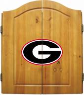 Georgia Bulldogs NCAA Complete Dart Board Cabinet Set