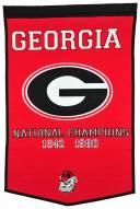 Winning Streak Georgia Bulldogs NCAA Football Dynasty Banner