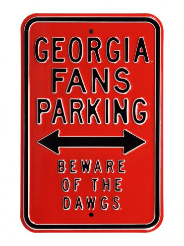 Georgia Bulldogs NCAA Embossed Parking Sign
