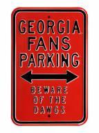 Georgia Bulldogs NCAA Embossed Parking Sign