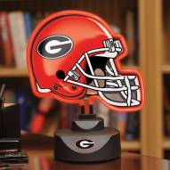 Georgia Bulldogs Neon Helmet Desk Lamp