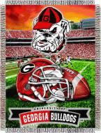 Georgia Bulldogs NCAA Woven Tapestry Throw / Blanket