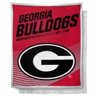 Georgia Bulldogs New School Mink Sherpa Throw Blanket