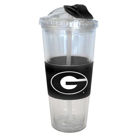 Georgia Bulldogs No Spill Straw Tumbler