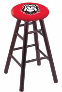 Georgia Bulldogs Oak Wood Bar Stool