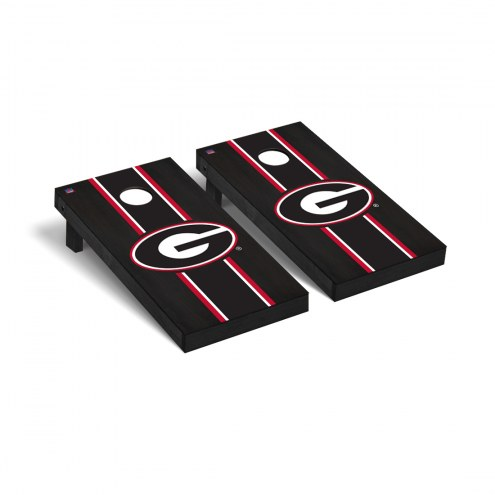 Georgia Bulldogs Onyx Stained Stripe Cornhole Game Set