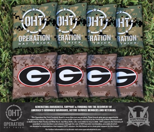Georgia Bulldogs Operation Hat Trick Cornhole Bag Set