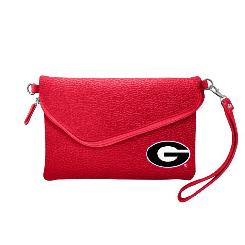 Georgia Bulldogs Pebble Fold Over Purse