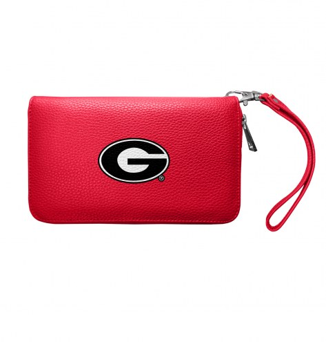 Georgia Bulldogs Pebble Organizer Wallet