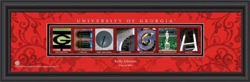 Georgia Bulldogs Personalized Campus Letter Art