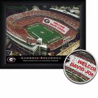 Georgia Bulldogs 11 x 14 Personalized Framed Stadium Print