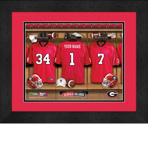 Georgia Bulldogs Personalized Locker Room 13 x 16 Framed Photograph