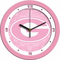 Georgia Bulldogs Pink Wall Clock
