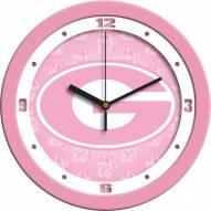 Georgia Bulldogs Pink Wall Clock