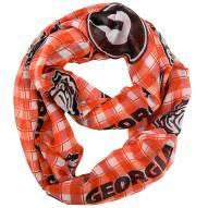 Georgia Bulldogs Plaid Sheer Infinity Scarf