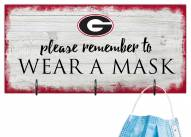 Georgia Bulldogs Please Wear Your Mask Sign