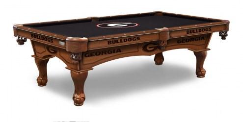 Georgia Bulldogs Pool Table