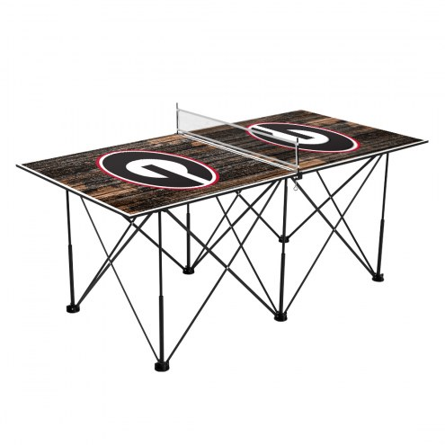 Georgia Bulldogs Pop Up 6' Ping Pong Table