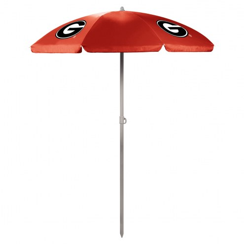 Georgia Bulldogs Red Beach Umbrella