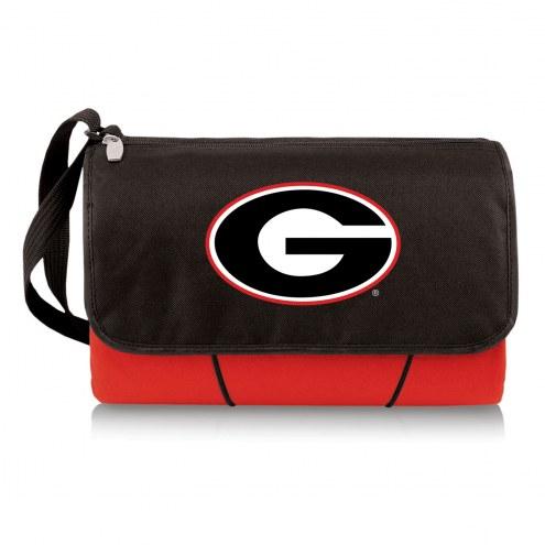 Georgia Bulldogs Red Blanket Tote