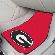 Georgia Bulldogs Red 2-Piece Carpet Car Mats