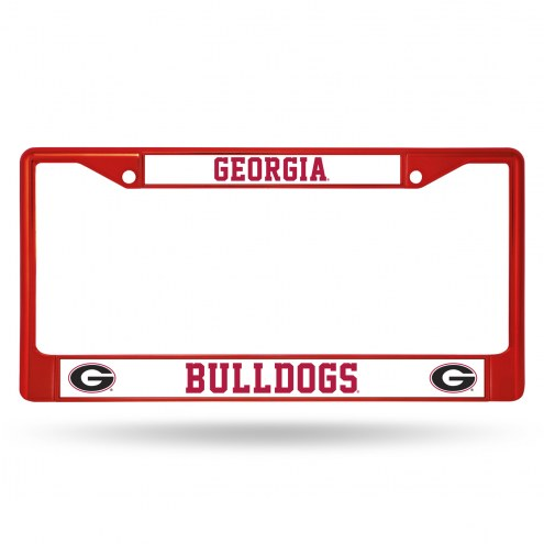 Georgia Bulldogs Red Colored Chrome License Plate Frame