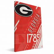 Georgia Bulldogs Retro Canvas Print