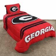 Georgia Bulldogs Reversible Comforter Set
